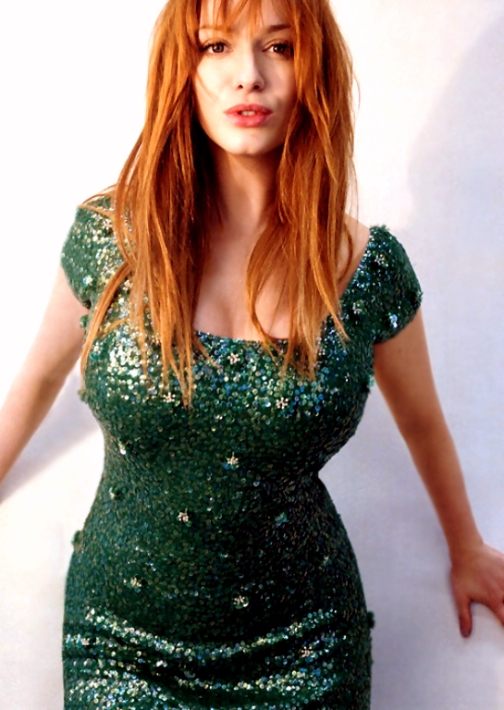 Christina hendricks my breasts are obviously real the for The hendricks