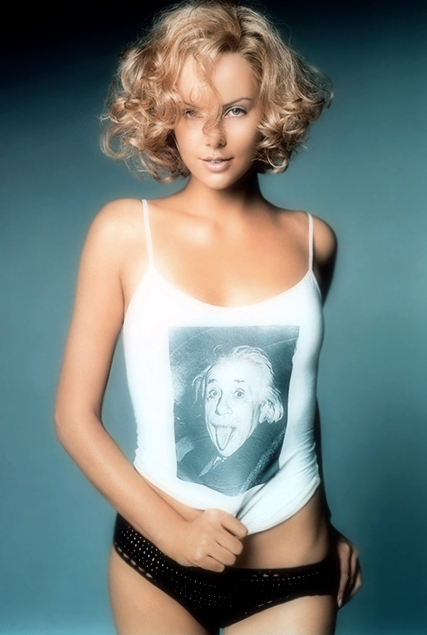 charlize theron einstein shirt