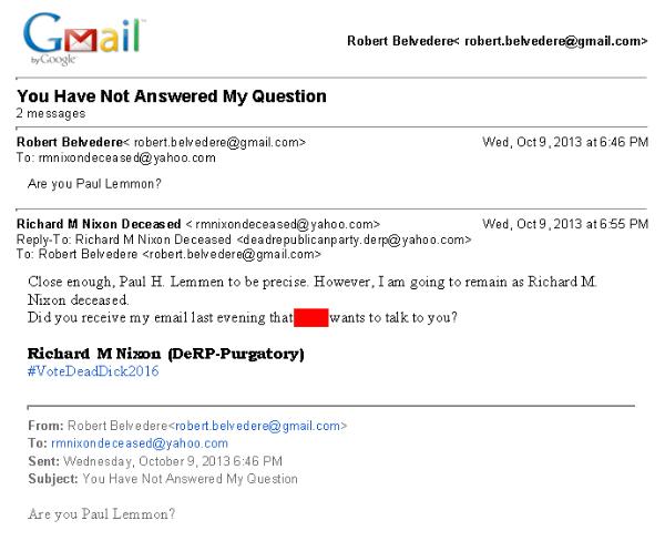 E-MAIL - RMNixonDeceased is Paul Lemmen-x